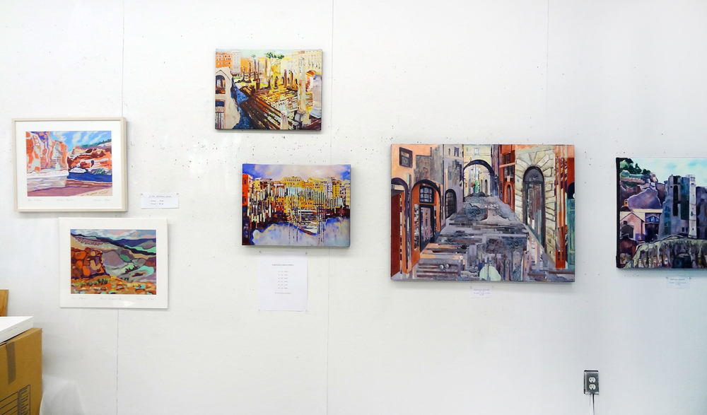 Dee Cohen paintings displayed as digital prints and canvas prints, 2014.