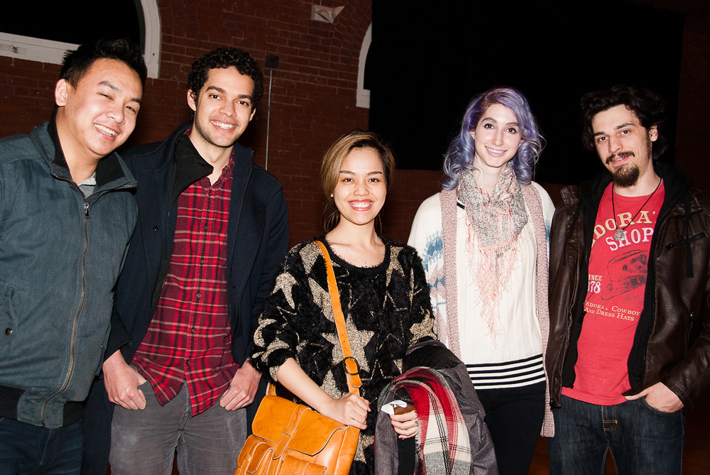 Loi Hyunh and team for 'Wicked Film Challenge' with Geena Matuson and Steve Anthony at Boston Indie Mafia event, March 2015. Photo by Light Filters Studio.