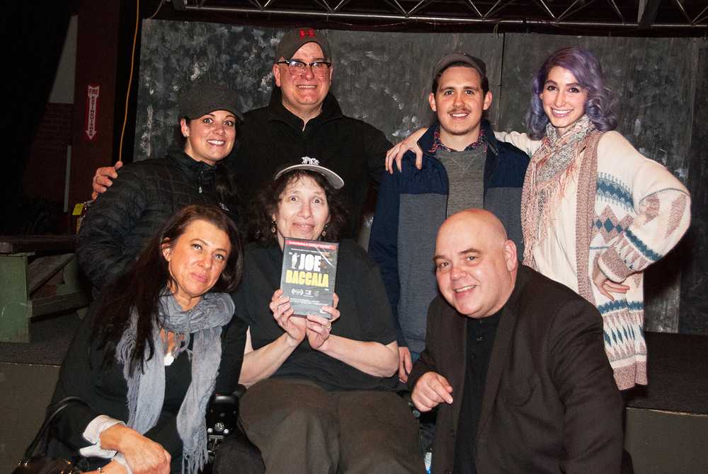 Boston Indie Mafia members Stacey Forbes Iwanicki, Lisa Meri, Curtis Reid, Geena Matuson and Joseph Bouvier with Christine Nordstrom and Rocco Mesiti at Boston Indie Mafia event, March 2015. Photo by Light Filters Studio.