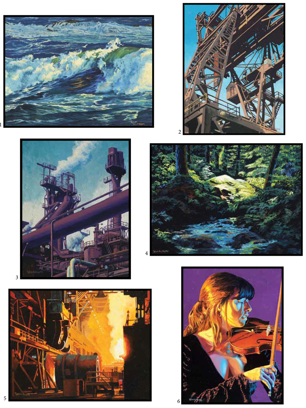 Sample brochure of industrial, environmental and figure oil paintings by Pete Rogers.