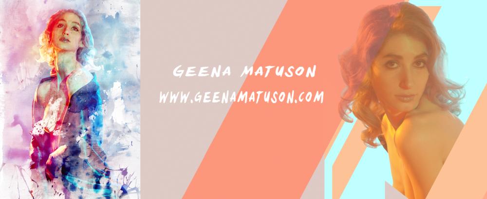 Geena Matuson's personal branding, late 2015.
