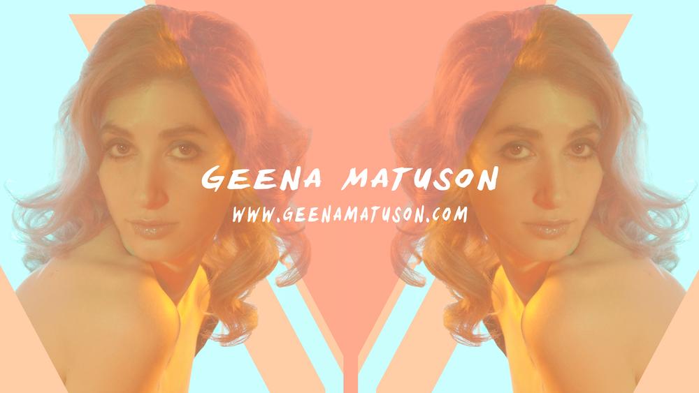 Geena Matuson's new branding on YouTube, 2015.