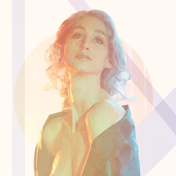 Geena Matuson's artwork in art deco style, 2015.