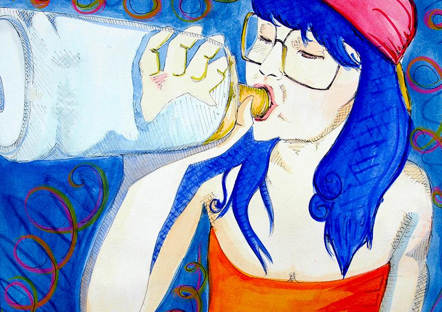 Geena Matuson, Drinking Everest, Early Artwork.