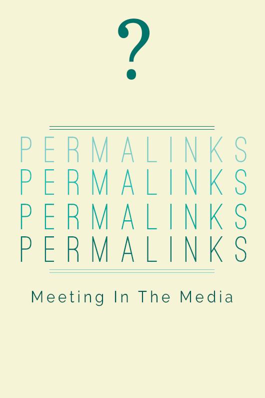 Geena Matuson's poster designs for Meeting In The Media, 2015.