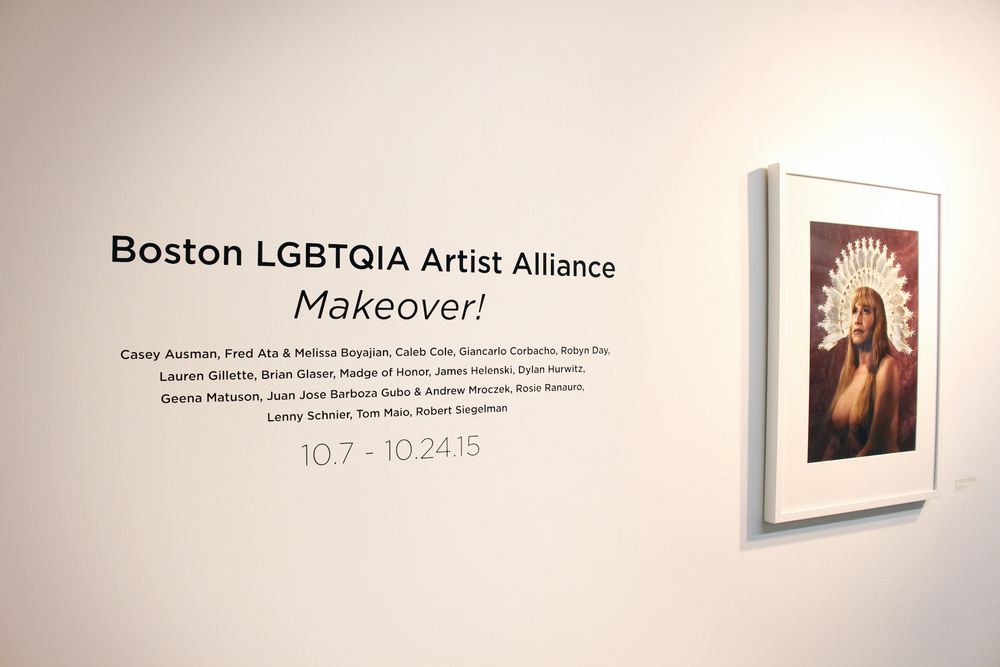 The Boston LGBTQIA Artist Alliance (BLAA) presents Makeover! at Subsamson, show running from October 7 - 24, 2015. Artwork (right) by  Barboza-Gubo and Mroczek .