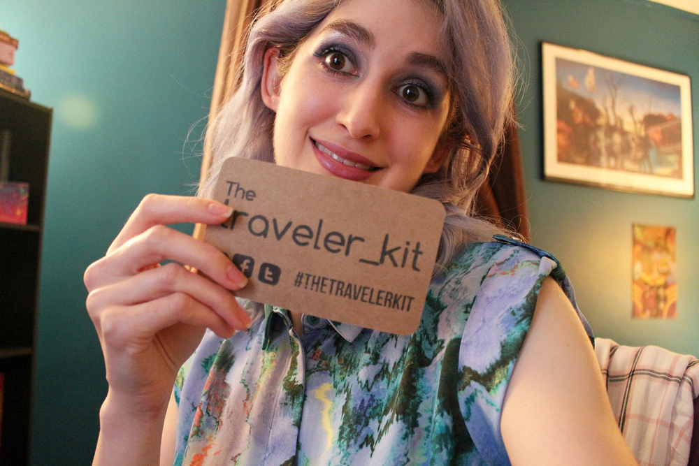 Making an awkward face with #Thetravelerkit @ www.travelerkitandco.com.