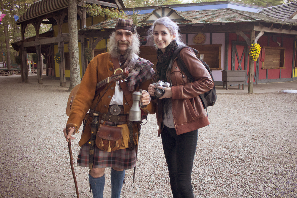 Geena Matuson, Angus MacPherson at King Richard's Faire in Carver MA, October 2015.