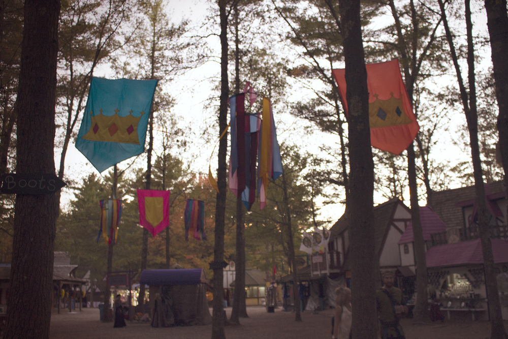 Geena Matuson, sunset at King Richard's Faire in Carver MA, October 2015.