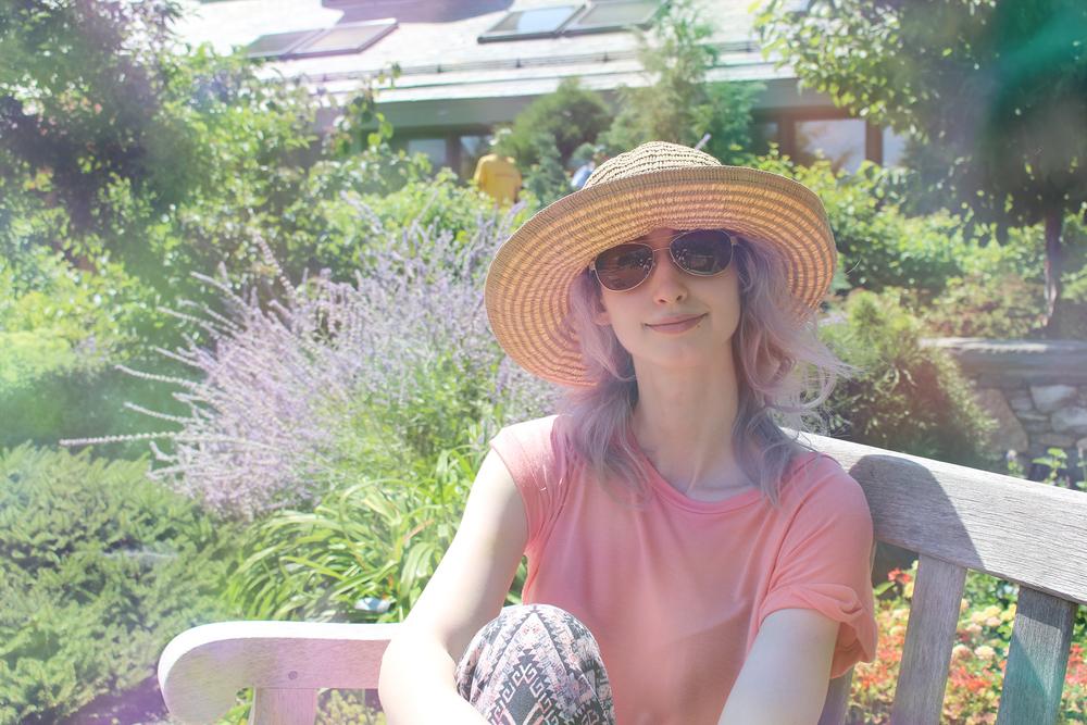 Geena Matuson at Tower Hill Botanical Garden, Summer 2015.