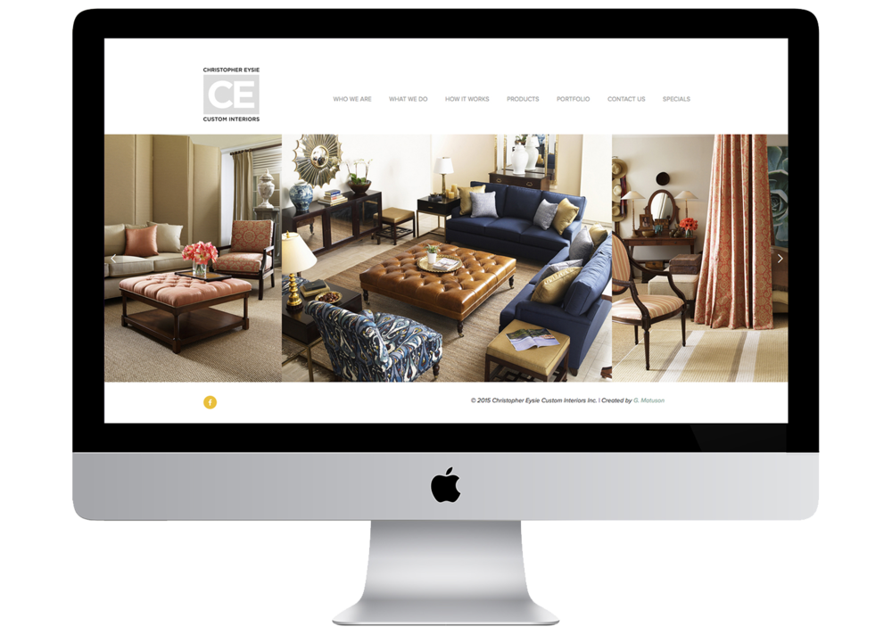Christopher Eysie Custom Interiors, Website by Geena Matuson