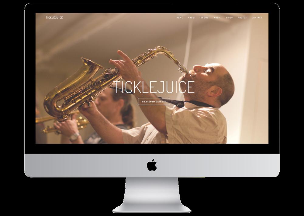 TickleJuice led by James Merenda, Website by Geena Matuson