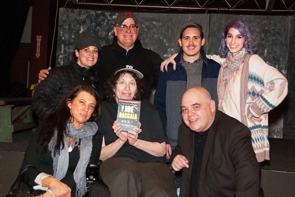 Geena Matuson with members of non-profit Boston Indie Mafia, 2015.
