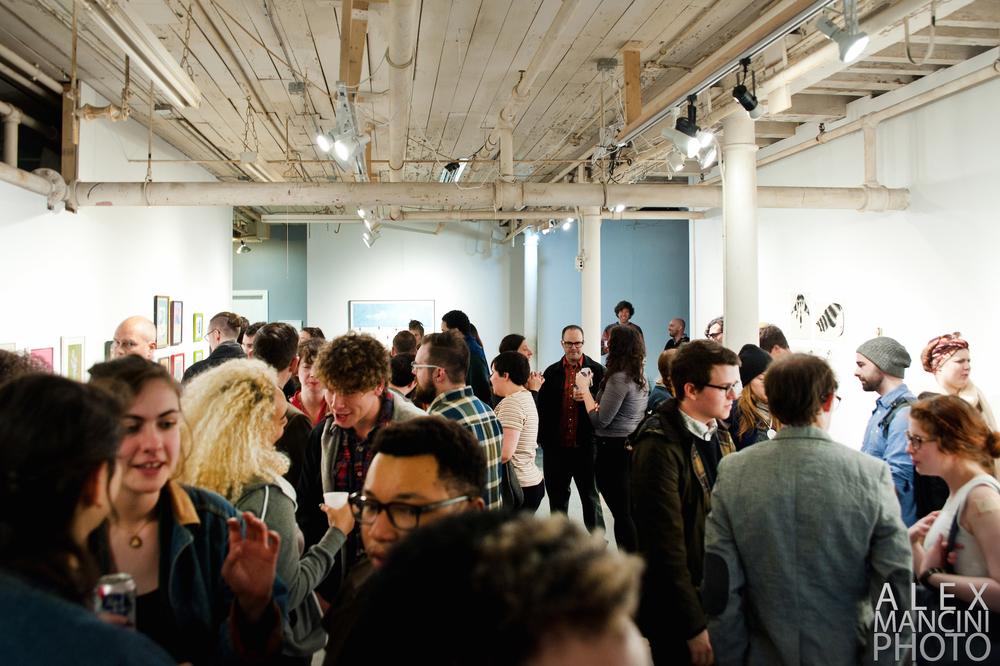 Boston LGBTQIA Artist Alliance 'Post-Gay?' Reception, Alex Mancini Photography, 2016.