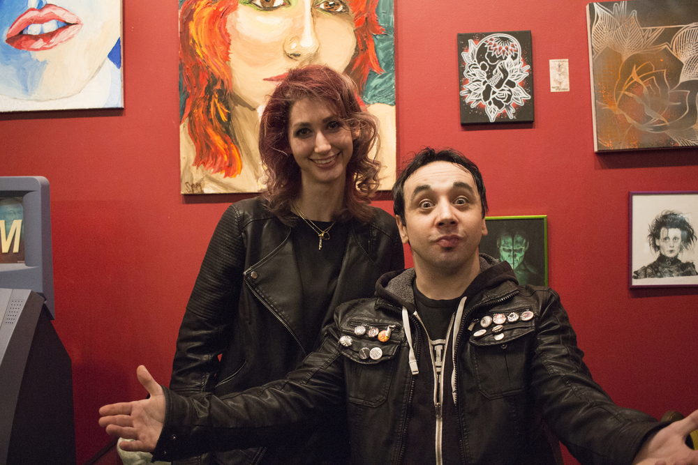 Geena Matuson and Mike O'Toole, Stingray Body Art Tattoo Artist Art Show, March 2016.