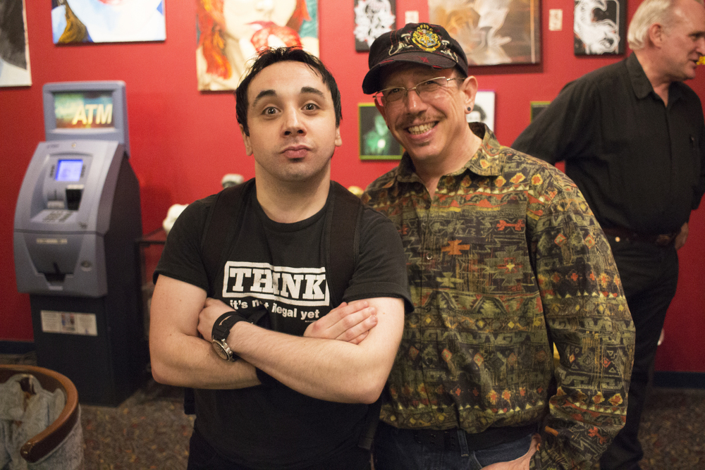 Mike O'Toole and Scott Matalon, Stingray Body Art Tattoo Artist Art Show, March 2016.