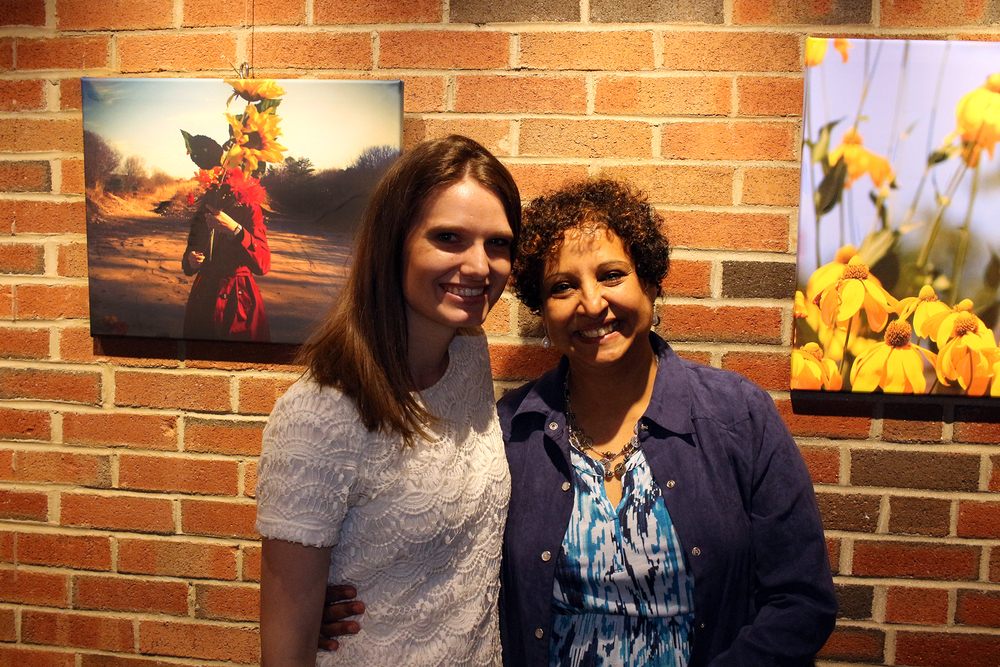 Alex James and Director Aditi Thatte of Medfield TV at Geena Matuson's solo show reception, April 29, 2016.