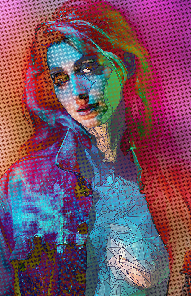 Geena Matuson,  Galaxy Grunge , 2016.