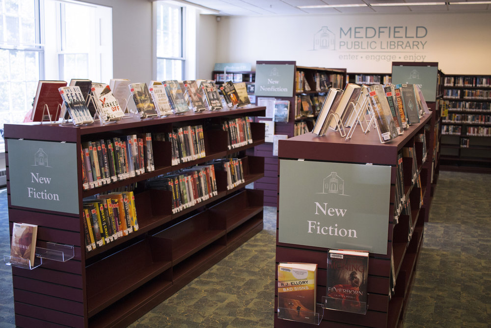 Medfield Memorial Public Library, photo by Geena Matuson.