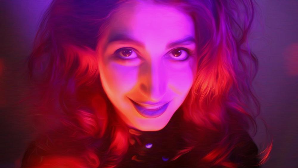 Witch , series 'Purple Neon Nights' / The Girl Mirage @geenamatuson #thegirlmirage