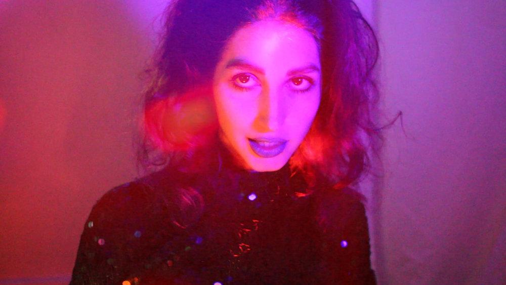 Untitled screenshot,  part of series 'Purple Neon Night' The Girl Mirage