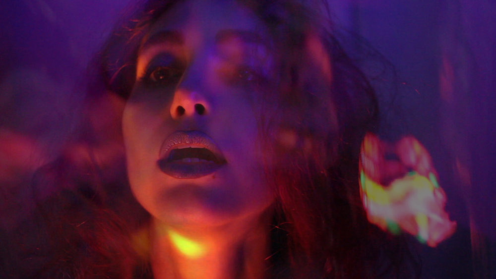 Candelight , part of series 'Purple Neon Night' The Girl Mirage