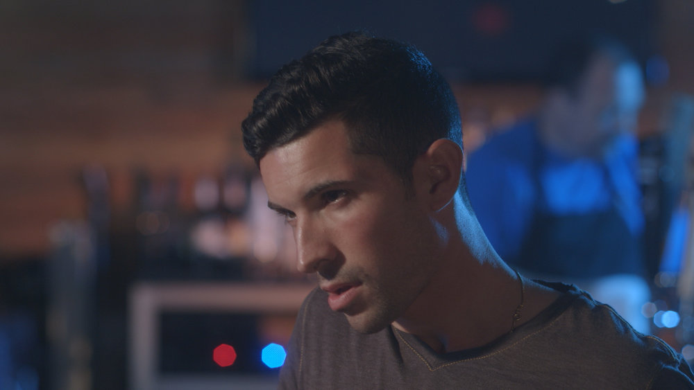 Casey William Hines and Andrew Morais in Geena Matuson's upcoming short 'The Best A Man Can Get' filmed at Rock 'n' Roll Rib Joint in Medfield, MA. Cinematography by Denez McAdoo.