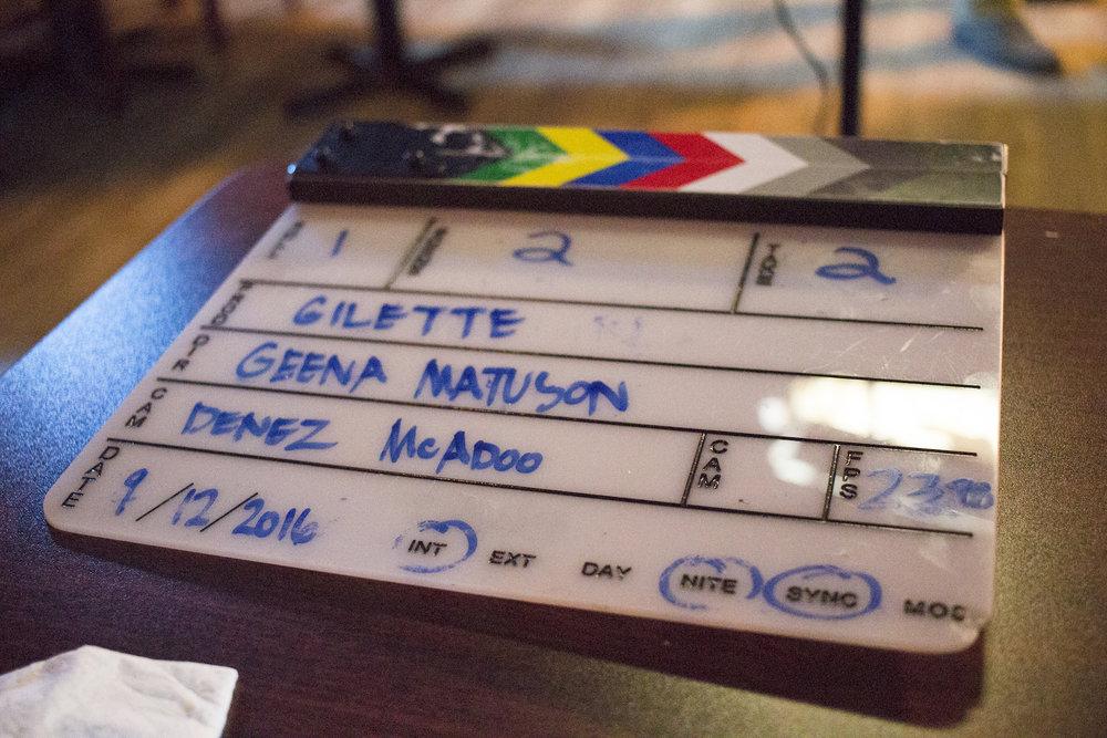 The set of Geena Matuson's production of 'Fauxmercials' bar ads, September 2016.