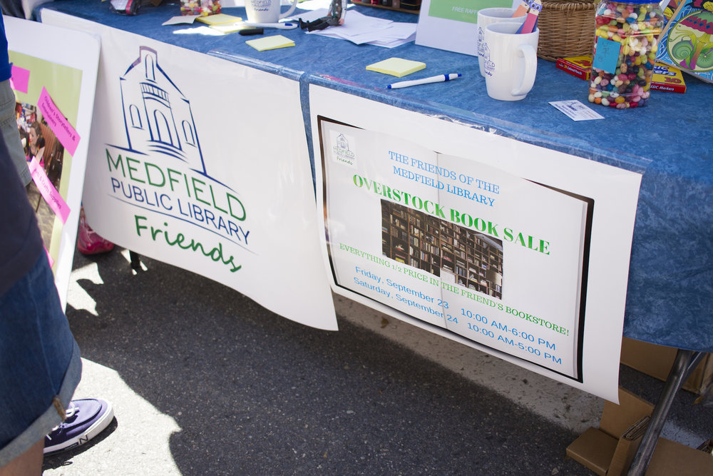 The Friends of the Library held a booth all its own featuring book store books, a raffle, and more.