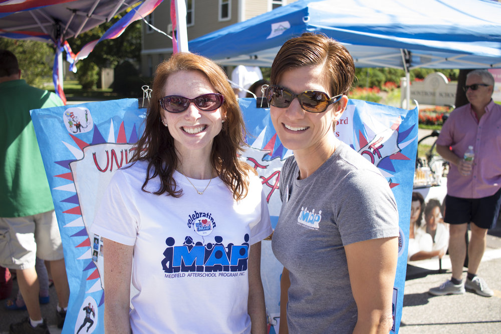 Annette and Stephanie of Medfield Afterschool Program at Medfield Day, 2016.