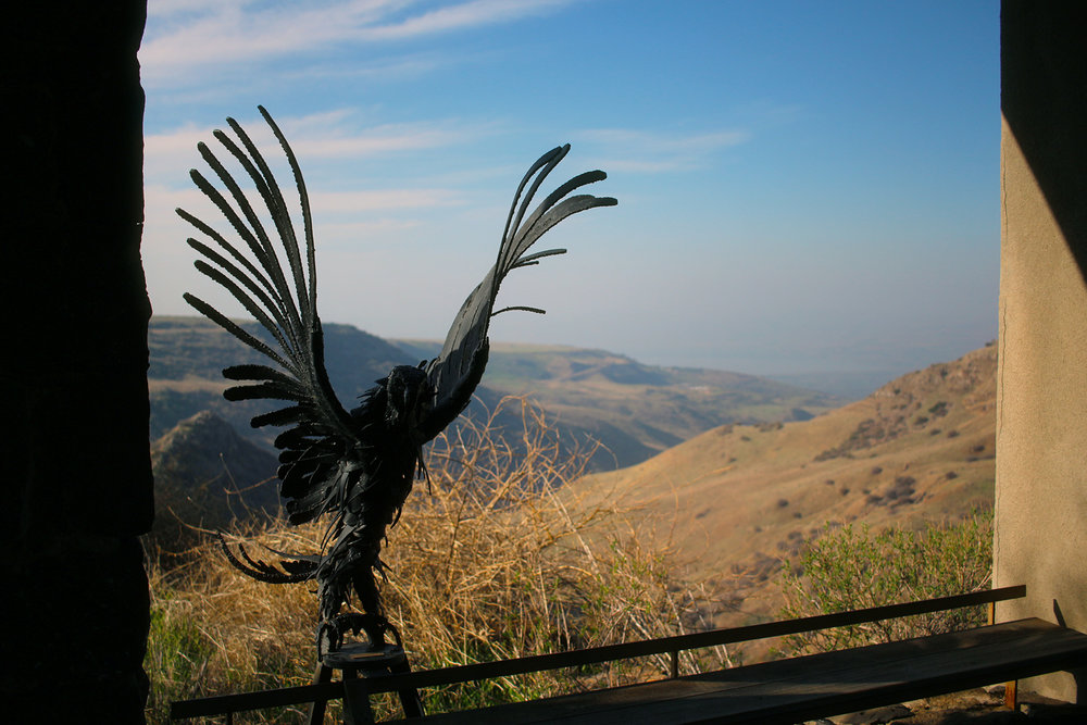 The vulture look-out at Gamla in Golan Heights, Israel. View across Gamla in Golan Heights, Israel. Travel photography by Geena Matuson @geenamatuson #thegirlmirage.