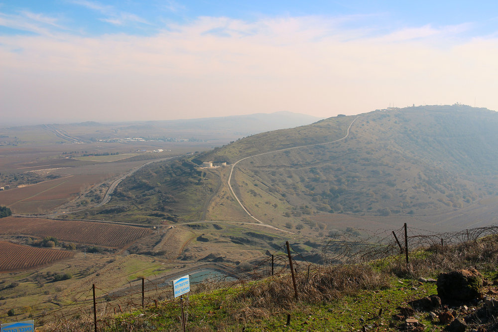 The view from Har Bental, Israeli Bunkers in Golan, Israel.