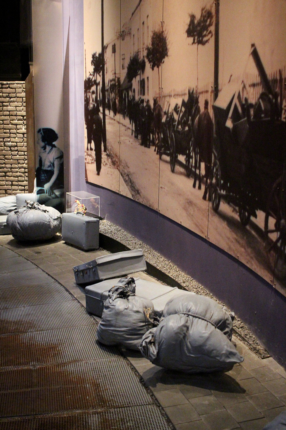 A walk-through interractive display in Ghetto Fighters' House, the first Holocaust museum, Israel. Photography by Geena Matuson @geenamatuson #thegirlmirage.