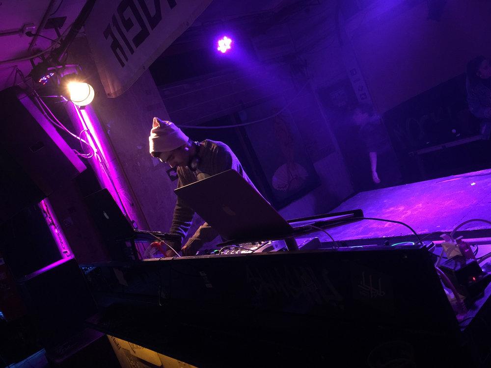 DJ at Tel-Aviv's club  Pasáž (Passage) .