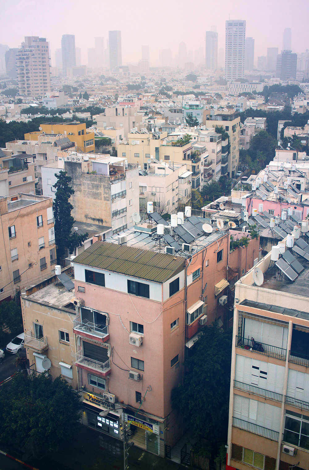 View across Tel-Aviv, taken from the fifth floor of the Deborah Hotel on Ben Yehuda Street. Travel photography by Geena Matuson @geenamatuson #thegirlmirage.