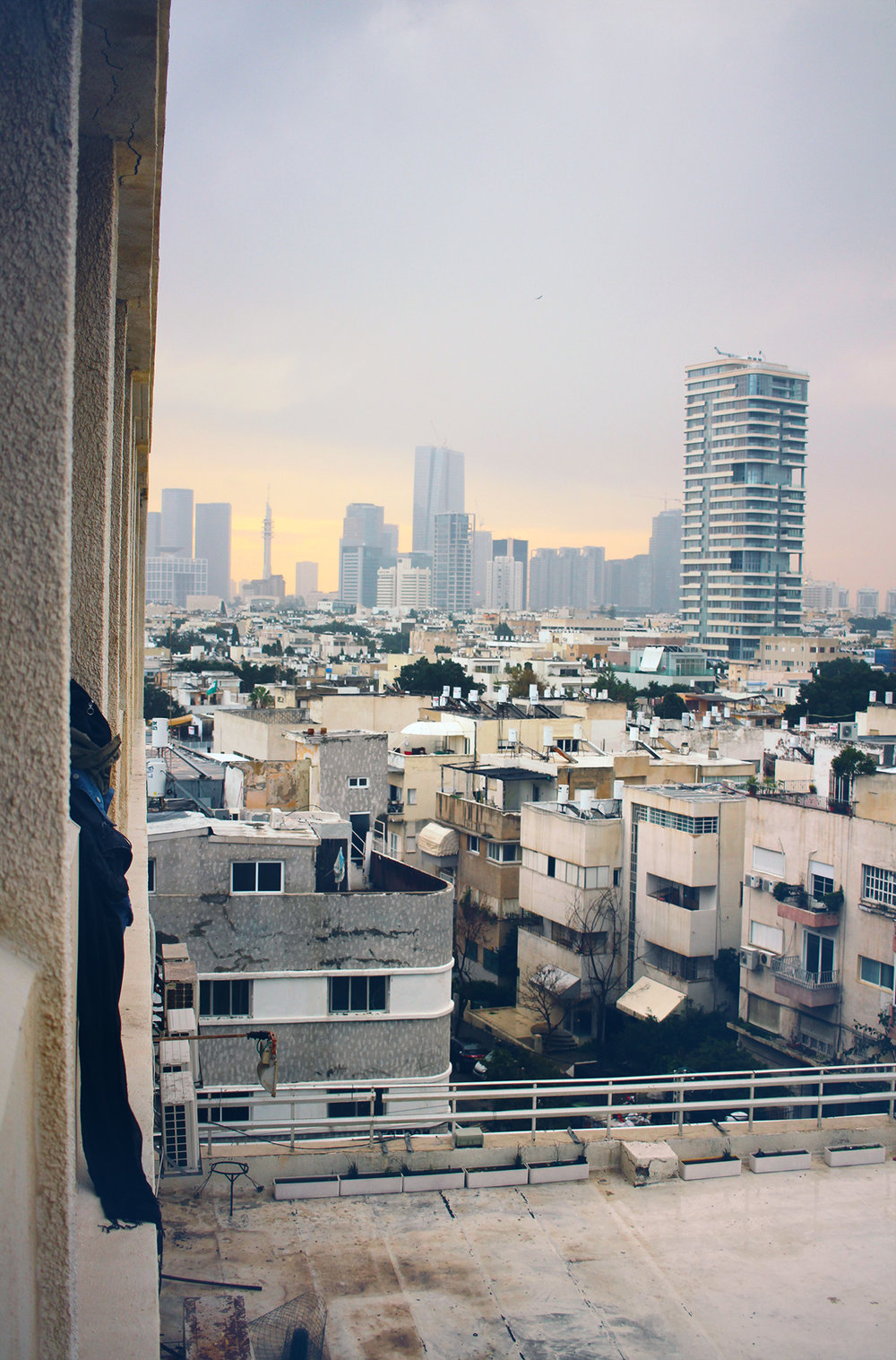 View across Tel-Aviv, 2016. View across Tel-Aviv, taken from the fifth floor of the Deborah Hotel on Ben Yehuda Street. Travel photography by Geena Matuson @geenamatuson #thegirlmirage.