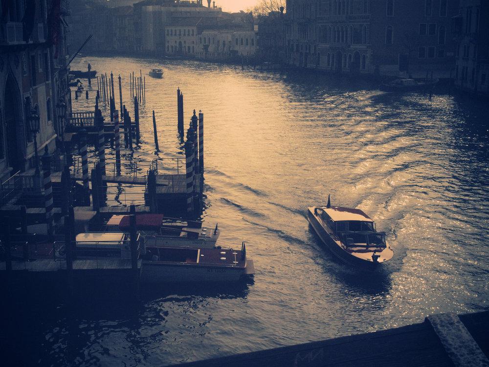Canal in Blue / Part of 'Trip To Italy' series by Geena Matuson @geenamatuson, 2011.