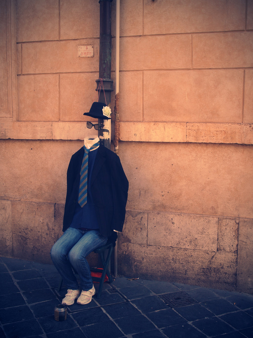The Invisible Man  / Part of 'Trip To Italy' series by Geena Matuson @geenamatuson, 2011.