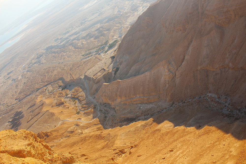 The view from atop Masada in the Negev Desert, Israel, 2016.
