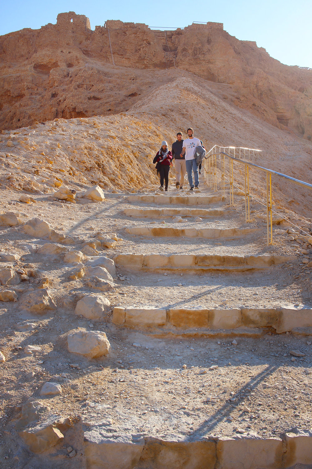 The view of lower-level Masada in the Negev Desert, Israel, 2016.
