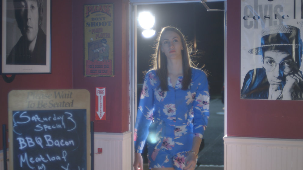 Samantha Webb in Geena Matuson's (@geenamatuson) short 'Depends,' filmed at Rock 'n' Roll Rib Joint in Medfield, MA. Cinematography by Denez McAdoo.