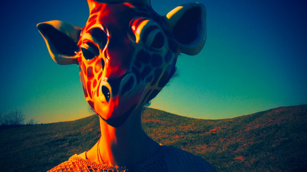 Video art from experimental music video 'Giraffe World' by The Girl Mirage @geenamatuson #thegirlmirage