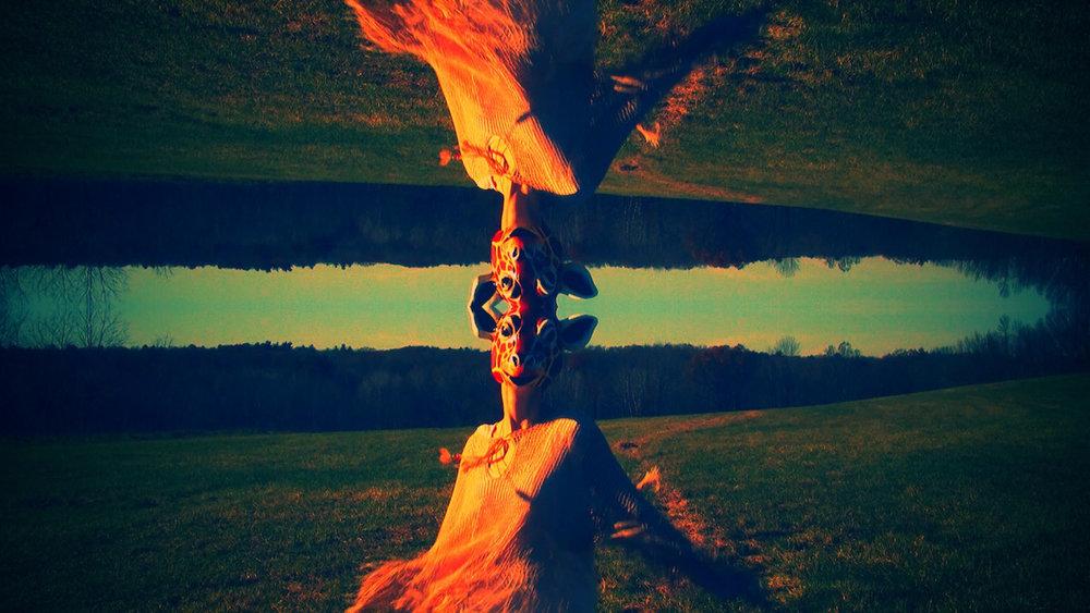 Video art from experimental music video 'Giraffe World' by The Girl Mirage @geenamatuson #thegirlmirage