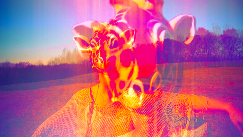 'Bubblegum Pop' video art from experimental music video 'Giraffe World' by The Girl Mirage @geenamatuson #thegirlmirage