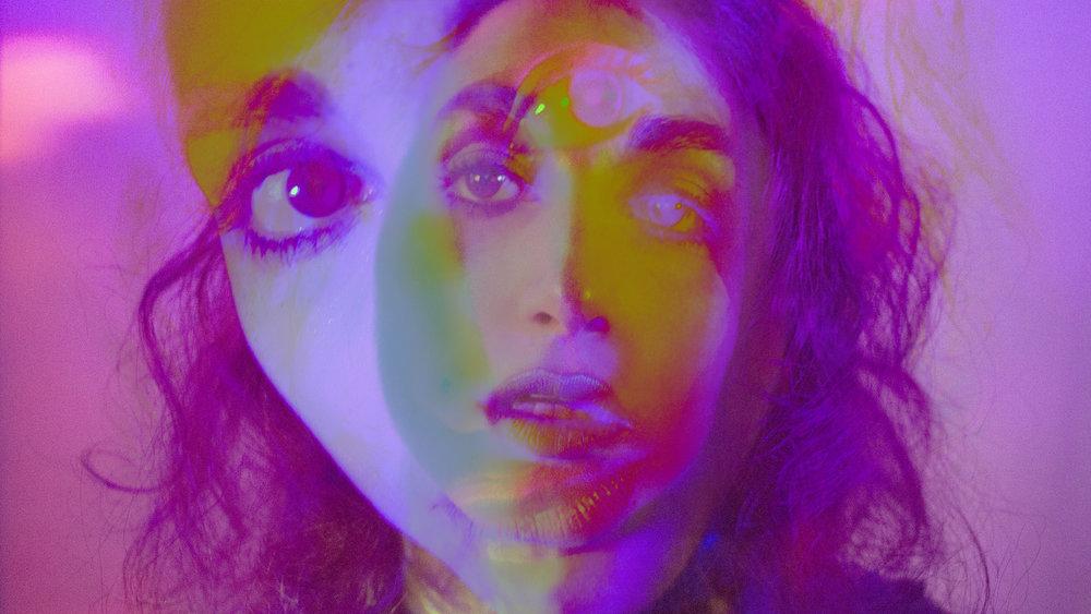My Third Eye , part of series 'Purple Neon Night' The Girl Mirage