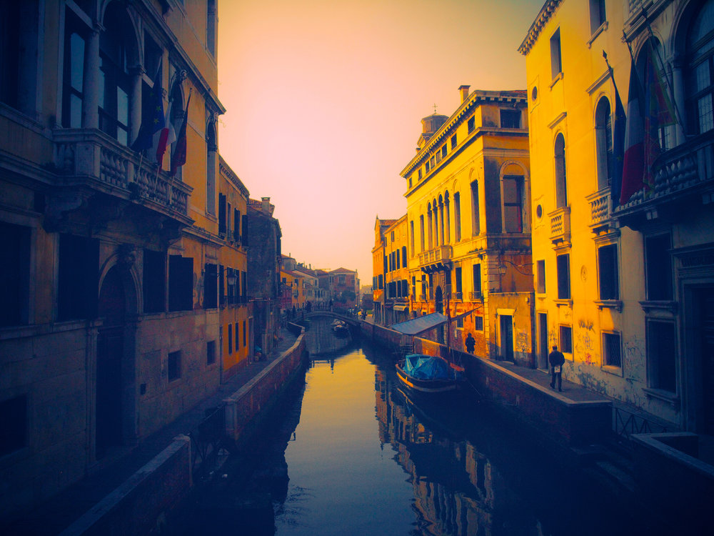 A Canal in Color  / Part of 'Trip to Italy' series by Geena Matuson @geenamatuson, 2011.