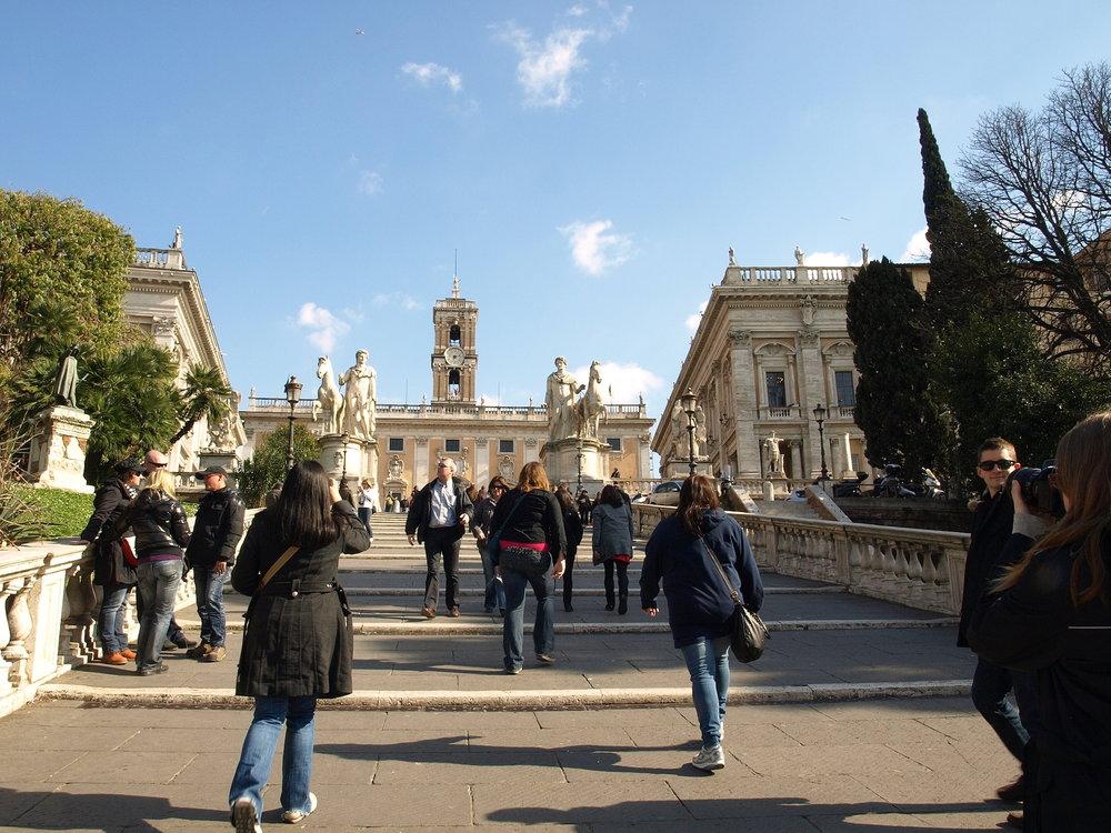 Capitoline Hill  , Piazza del Campidoglio, Italy  / Geena Matuson @geenamatuson #thegirlmirage