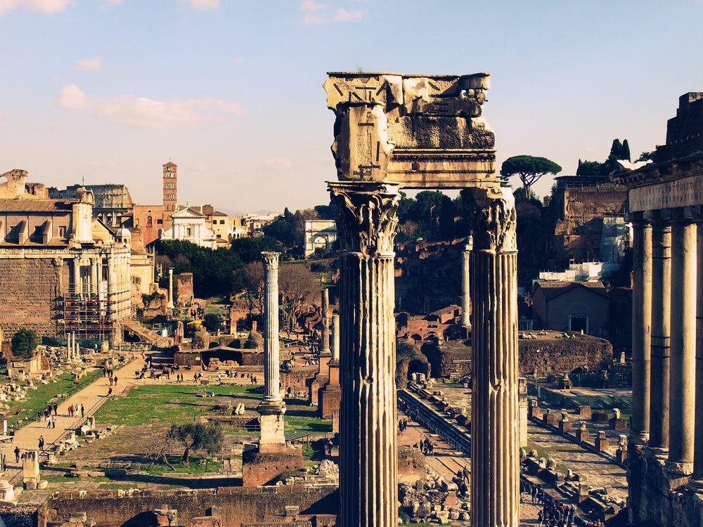 Forum Romanum  / Part of 'Trip to Italy' series by Geena Matuson @geenamatuson, 2011.