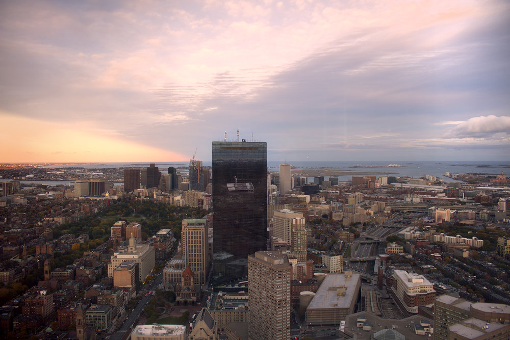 View from Top of the Hub Restaurant in Prudential Center across Boston MA, photograph by Geena Matuson @geenamatuson #thegirlmirage.