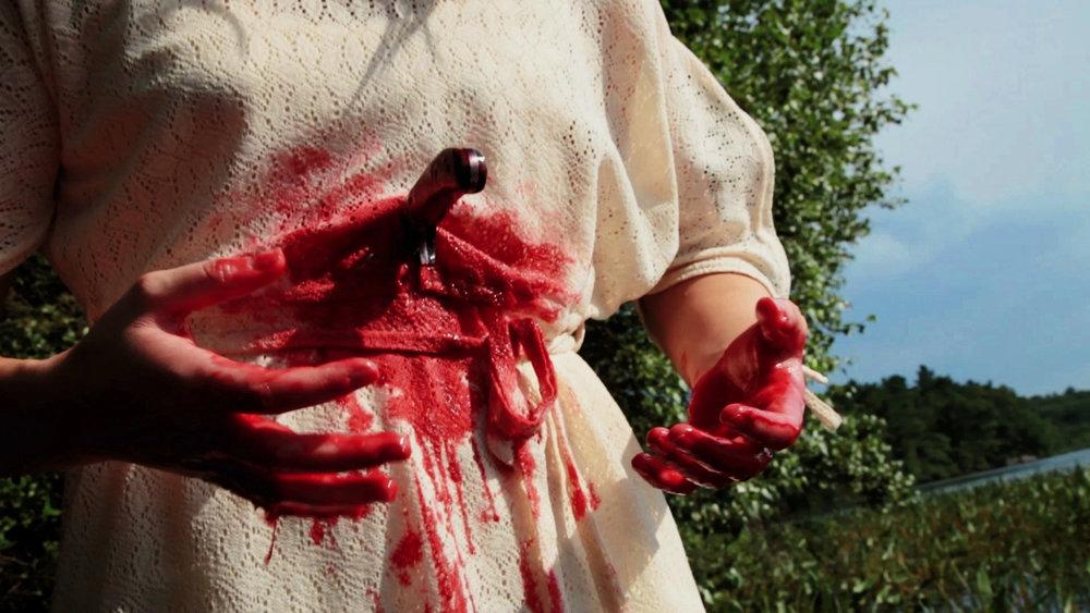 """Masked Beings"" in Geena Matuson's (@geenamatuson) 16mm/HDV psychodrama 'My Big Bad Wolf' (2013), filmed in Ponkapoag, MA."